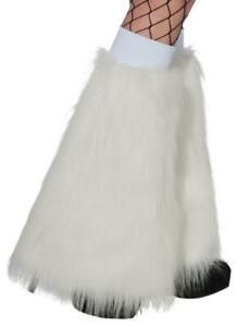 Fluffies Furry Leg Warmers Fancy Dress Up Halloween Costume Accessory 4 COLORS