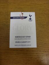 02/03/2014 Ticket: Tottenham Hotspur v Cardiff City [North /East Stand Executive