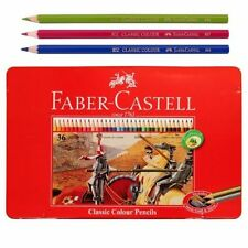 Faber Castell Lápices de Color Clásico 36 Lata De Color Para Adultos Para Colorear.