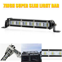 LED Light Bar Slim 7in 18W Flood Work Driving Fog Lamp Truck Offroad ATV SUV 4WD