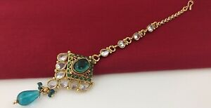 Indian Head Jewelry bollywood ethnic gold plated Bridal maang Tikka set