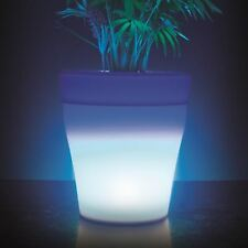 Light Up LED Plant Pot Indoor Small Plastic 7 Colour Changing