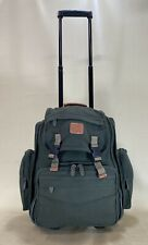 "Preowned Dakota by Tumi Rare Green Canvas 17"" Upright Wheeled Carry On Backpack"