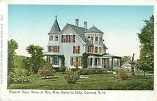 Pleasant View Concord New Hampshire Home Rev Mary Baker G Eddy Postcard