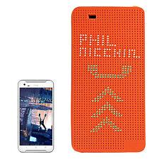 CUSTODIA COVER DOT VIEW FLIP ARANCIONE PER HTC ONE X9