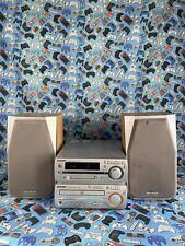 Sharp MD-MX10 Compact Book Shelf Component System CD Player Mini Disk Radio