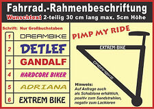 Fahrrad Rahmen Beschriftung Set 2-teilig Initialisierung Aufkleber Folie Sticker