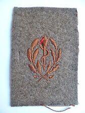 Insigne tissu 1939 WWII CADUCÉE MÉDECIN SERVICE DE SANTE UNIFORME FRANCE N°1
