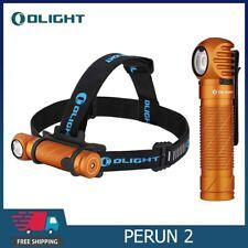 OLIGHT Perun 2 LED Headlamps 2500 Lumens Flashlight Head-mounted Headheld Orange