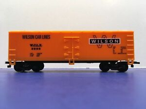 """HO Scale """"Wilson Car Lines"""" WCLC 2996 Forty Foot Freight Train Box Car"""