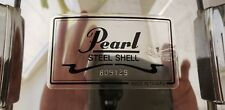 Pearl Steel Shell Snare Drum