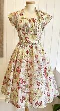 Vintage 1950's Formal Day Dress Size 6/8 Rockabilly New Look
