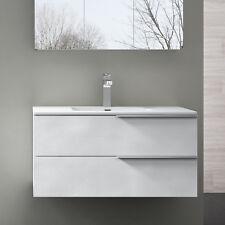 Badmöbel Badezimmer Badezimmermöbel Waschbecken Schrank Weiß struktur PAESTUM900