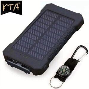 Waterproof Solar Power Bank 2000000mAh Portable External Battery Charger US