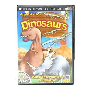 DINOSAURS Kids Interactive Educational Software CD ROM  LIKE NEW CONDITION