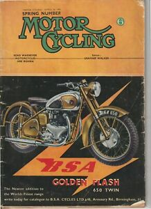 Spring Motorcycle Buyers Issue,Colour Adverts, Motor Cycling Magazine 1950