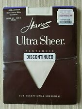 Vintage Hanes Ultra Sheer Sheer Toe-to-Waist In Pearl Pantyhose A  Up To 125 Lbs