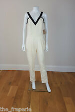 *BAND OF OUTSIDERS* IVORY JUMPSUIT WITH CONTRAST STRAPS UK 6-8