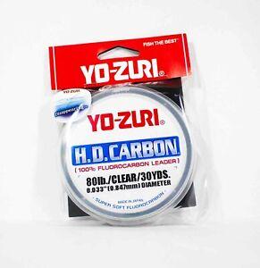 Yo Zuri Duel H.D Carbon Fluorocarbon 30 yds 80 lb R895-CL (0955)