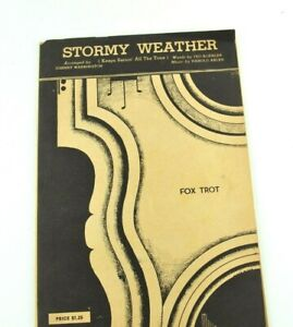 Stormy Weather Broadway New York Mills Music Fox Trot 1933 Johnny Warrington