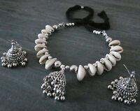 Handcrafted Beauty- Shell Necklace Choker Earrings Boho Gypsy Vintage Beachy new