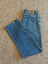 Eddie Bauer Womens Jeans Size 10 Tall Straight Leg All Cotton MOM