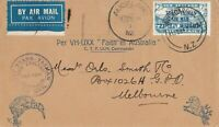 AFC122) First official Trans-Tasman Airmail NZ-Australia 17 February 1934