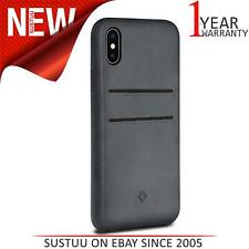 Twelve South Relaxed Leather Case for iPhone X /Xs Burnished Wallet Shell -Grey