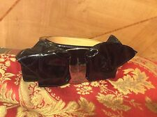 ICONIC RARE Signature GORGEOUS Salvatore Ferragamo BLACK Patent Leather BOW belt