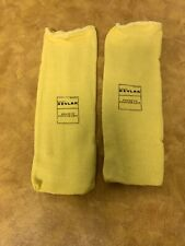 """Pair of Cut Resistance Sleeves 10""""L Hemmed Cuff,Yellow, Sleeve Fits Most"""