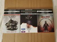 (3) Horror Movie Weekend: w/Slipcovers (4K Ultra HD & Blu-ray) No Codes