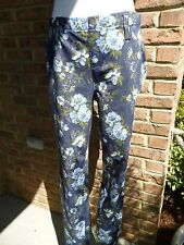 JEGGING floral PRINT~S 4-6  FAUX FRONT WITH REAL BACK POCKETS~new