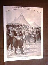 Costantinopoli nel 1910 Il Sultano Mehemed V con Re Pietro I di Serbia Turchia