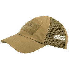 More details for helikon army tactical mens baseball cap vent military airsoft ripstop hat coyote