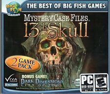 Mystery Case Files 13th SKULL + DARK DIMENSIONS Hidden Object PC Game DVD NEW