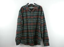 Vintage Woolrich Mens Large Double Pocket Long Sleeve Plaid Flannel Shirt Green