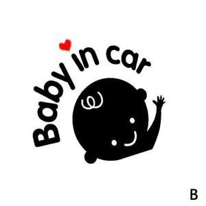 """Baby In Car"" Waving Baby on Board Safety Sign Cute Decor Car Sticker N7M0"