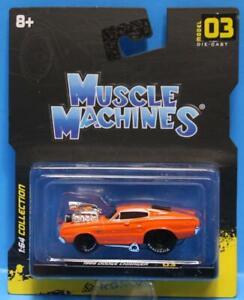 MUSCLE MACHINES #03 - 1966 DODGE CHARGER 1/64 ORANGE MAISTO