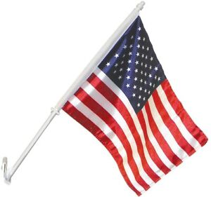 "USA Car Window Flag - American Patriotic 11""x14"" -Highest Quality on the Market!"