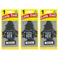 3 X BLACK ICE LITTLE TREES AIR FRESHENERS CAR TRUCK FRAGRANCE FRESHENER SCENT