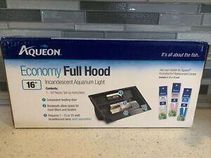 "New in Box Aqueon 16"" Economy Full Hood Aquarium Light With Feeding Door"