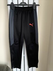 PUMA - Boys Black Tracksuit Bottoms / Trousers Pants Activewear- Size 9-10 Years
