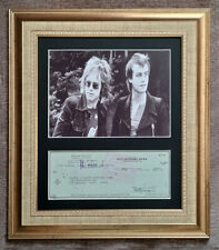 More details for bernie taupin authentic original cancelled signed cheque - mounted & framed