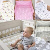 7 Pcs Baby Nursery Bedding Set GIRLS or BOYS Fit to COT 120x60cm 100% COTTON