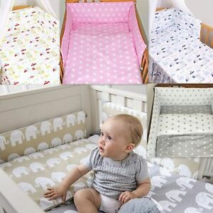 3-7 Pcs Baby Nursery Bedding Set GIRLS/BOYS Fit to COT BED 140x70cm 100% COTTON