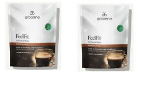 Arbonne 2 Box FeelFit Pea Protein Shake - Coffee Flavor (2lbs) EXP: 12 2022