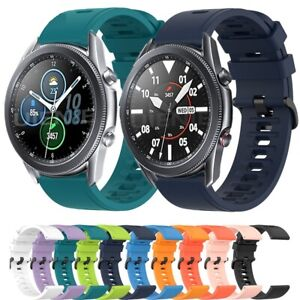 For Samsung Galaxy Watch 345mm Strap Silicone Fitness Replacement Wrist Band