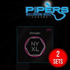 2 SETS of D'Addario NYXL0942 9-42 DAddario Super Light Electric Guitar Strings