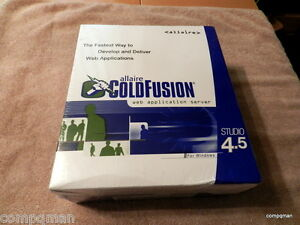 Cold Fusion Allaire ColdFusion 4.5 Studio Software for WINDOWS 95/98/ NT 4.0