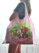 Large Girls Rilakkuma San-X Food Folded SHOPPER TOTE BAG Handbag Shopping Bag